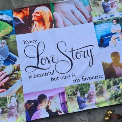 Personalised Every Love Story Polor Fleece Blanket