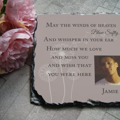 Personalised May The Winds In Heaven Slate