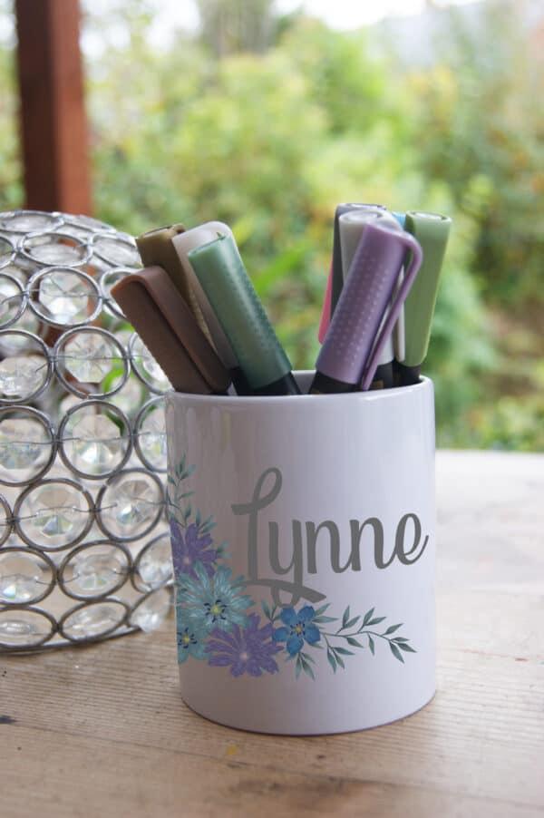 Personalised Flowers Ceramic Pot