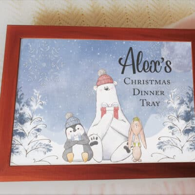 Personalised Christmas Dinner Laptray