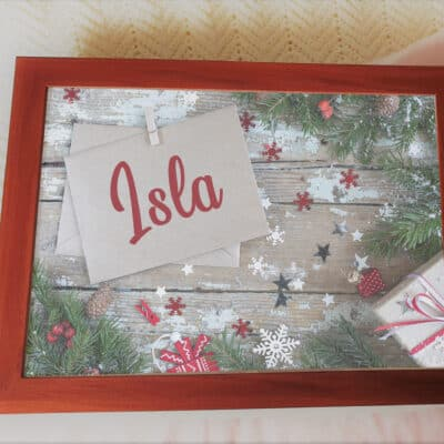 Personalised Christmas Name Laptray