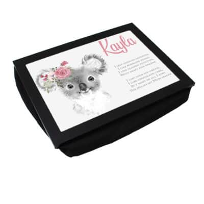 Personalised Cute Animal Laptray
