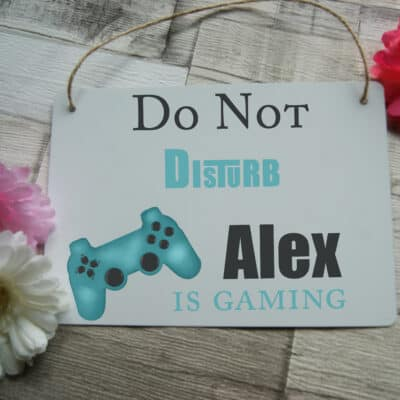 Personalised Do Not Disturb Gaming Hanging Sign