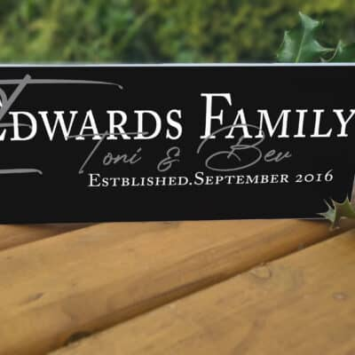Personalised Family Est. Acrylic Mantel Block