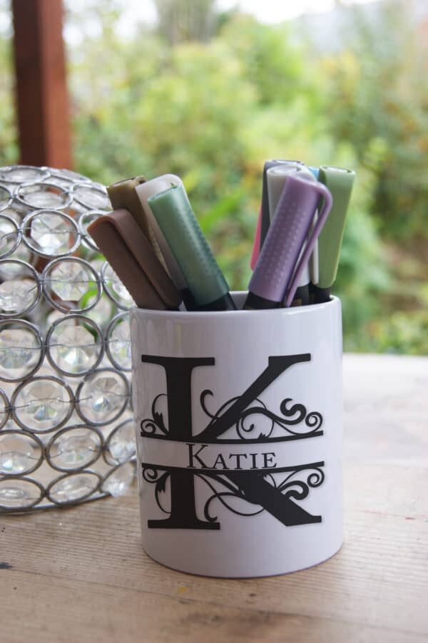 Personalised Monogram Ceramic Pot