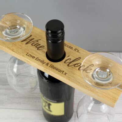 Personalised Wine O'clock Wine Butler