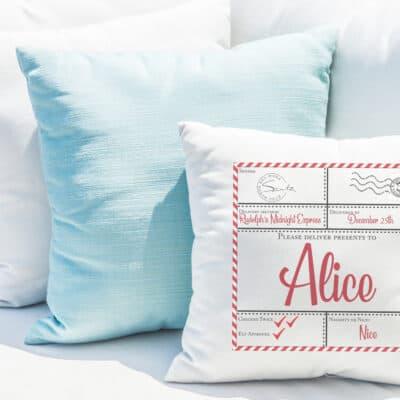 Personalised Nice List Cushion