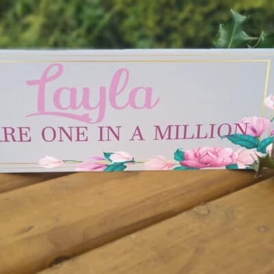 Personalised One In A Million Acrylic Mantel Block