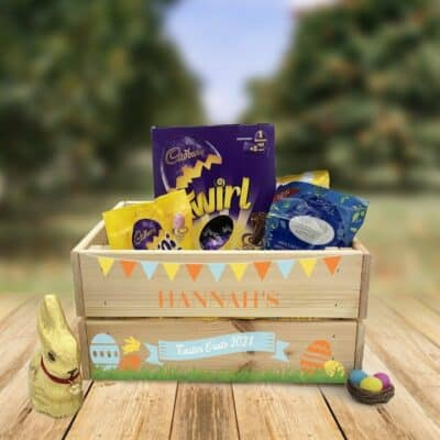 Personalised Wooden Easter Crate Design 2