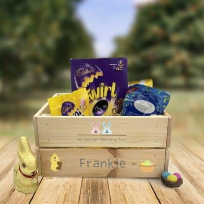 Personalised Wooden Easter Crate Design 1