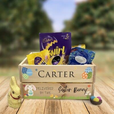Personalised Wooden Easter Crate Design 11