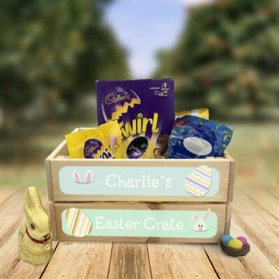 Personalised Wooden Easter Crate Design 3