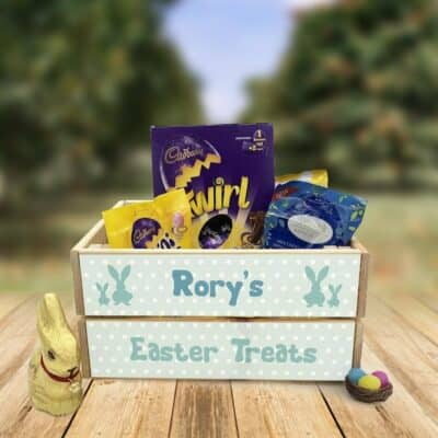 Personalised Wooden Easter Crate Design 4