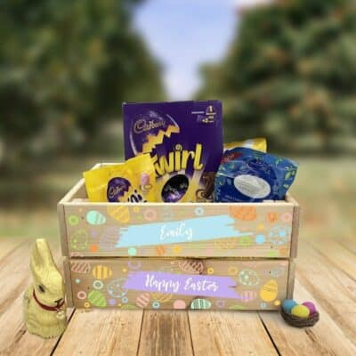 Personalised Wooden Easter Crate Design 5