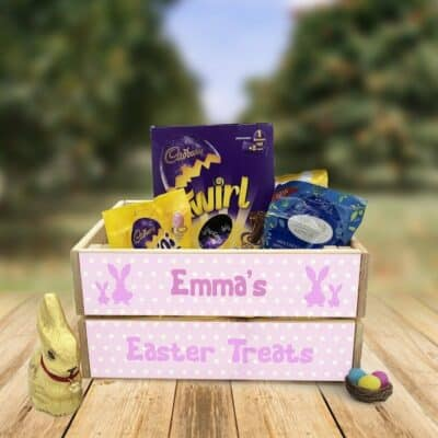 Personalised Wooden Easter Crate Design 6
