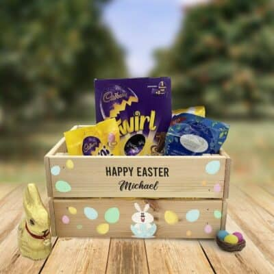 Personalised Wooden Easter Crate Design 7