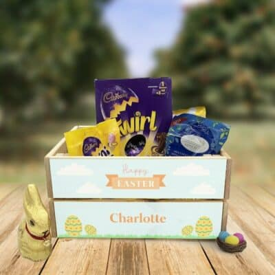 Personalised Wooden Easter Crate Design 8