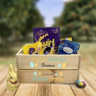Personalised Wooden Easter Crate Design 9