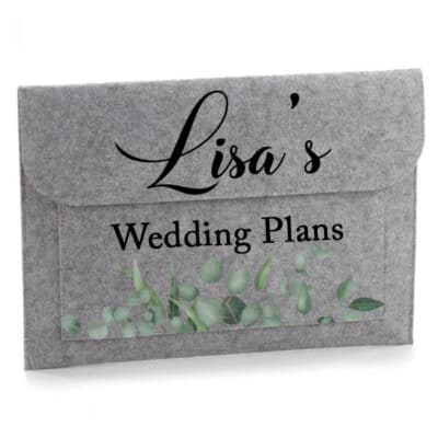 Personalised Wedding Plans Felt Document Slip
