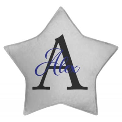 Personalised Boys Name Star Cushion