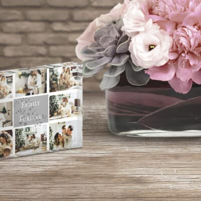 Personalised Family Forever Photo Block