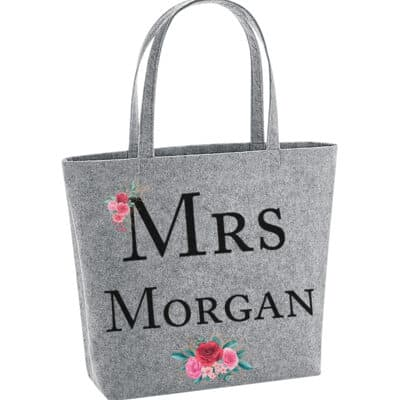 Personalised Name Felt Shopper Bag