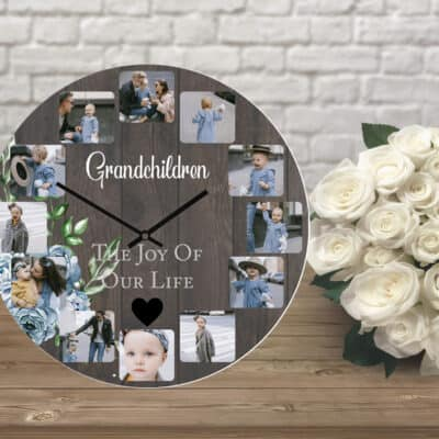 Personalised Grandchildren The Joy Of Our Life Clock