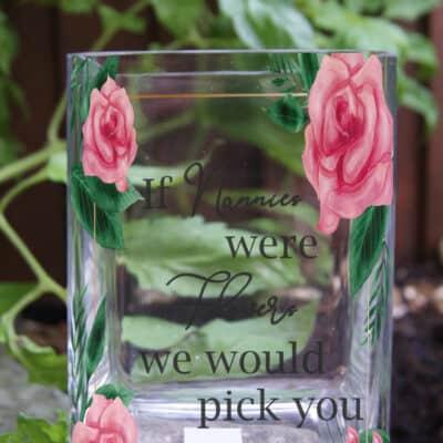 Personalised If Nannies Were Flowers Glass Vase