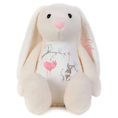 Personalised Love Heart Bunny Soft Toy