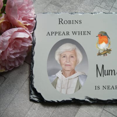 Personalised Robins Appear Slate