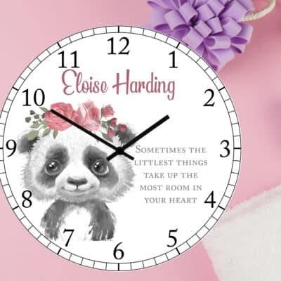 Personalised The Littlest Things Clock
