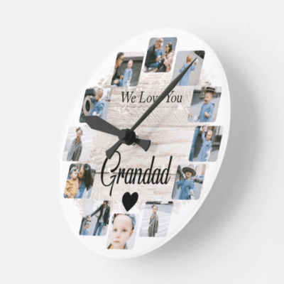 Personalised We Love You Clock