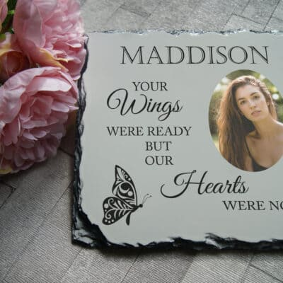 Personalised Your Wings Were Ready Slate