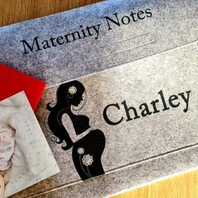 Personalised Maternity Notes Felt Document Slip