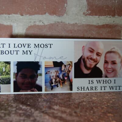 Personalised What I Love Most Acrylic Mantel Block