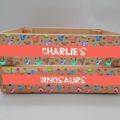 Personalised Dinosaur Design 3 Crate
