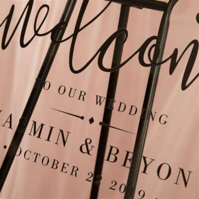 Personalised Acrylic Modern And Elegant Photo Wedding Welcome Sign