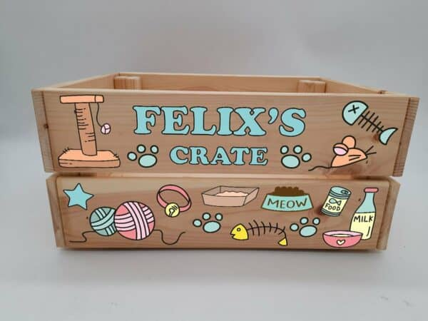 Personalised Cat Design 1 Crate