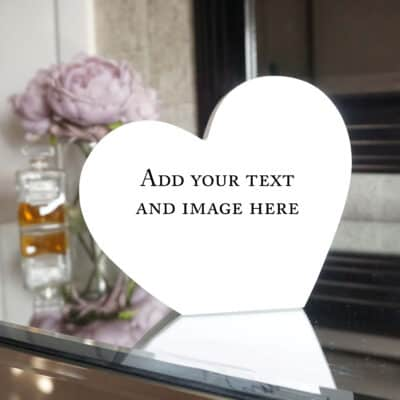Personalised Design Your Own Heart Photo Block