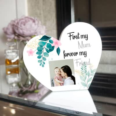 Personalised First My Mum Heart Photo Block
