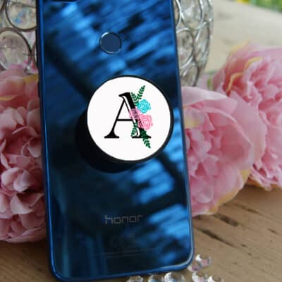 Personalised Floral Letter Phone Case Phone Grip