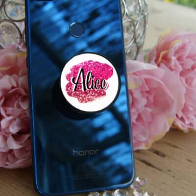 Personalised Glitter Effect Background Phone Case Phone Grip