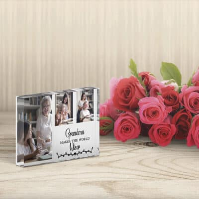 Personalised Makes The World Wiser Photo Block