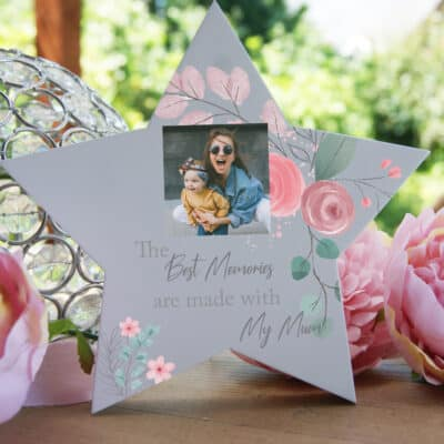 Personalised The Best Memories Freestanding Wooden Star