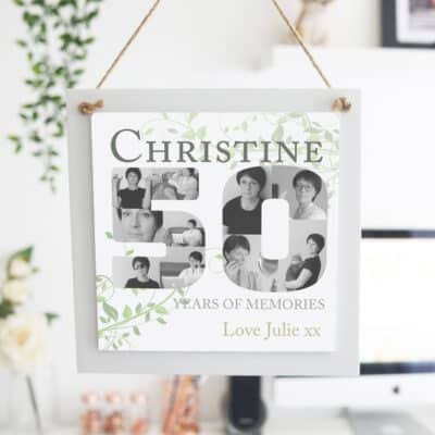 Personalised Years Of Memories Wooden Hanging Sign