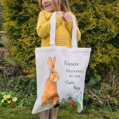 Personalised Delivered By The Easter Bunny Tote Bag