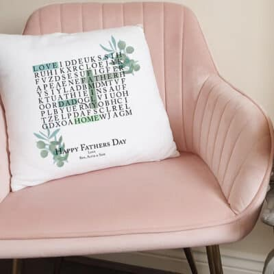 Personalised Father's Day Word Search Cushion
