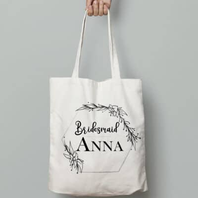 Personalised Wedding Party Tote Bag