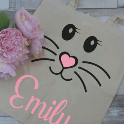 Personalised Bunny Face Tote Bag