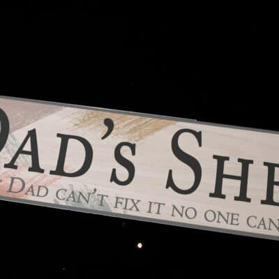 Personalised Dad's Shed Acrylic Station Sign